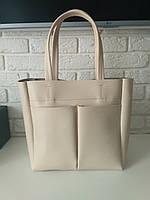 "Женская повседневная сумка-шоппер ""Аурика Beige"", фото 1"
