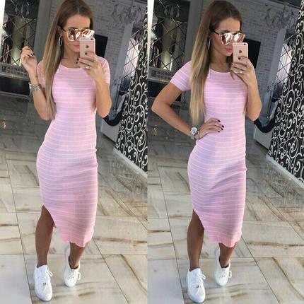 Длинное летнее платье с коротким рукавом, фото 2