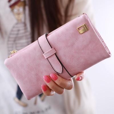 Женский кошелек из нубука FRIEND большой розовый