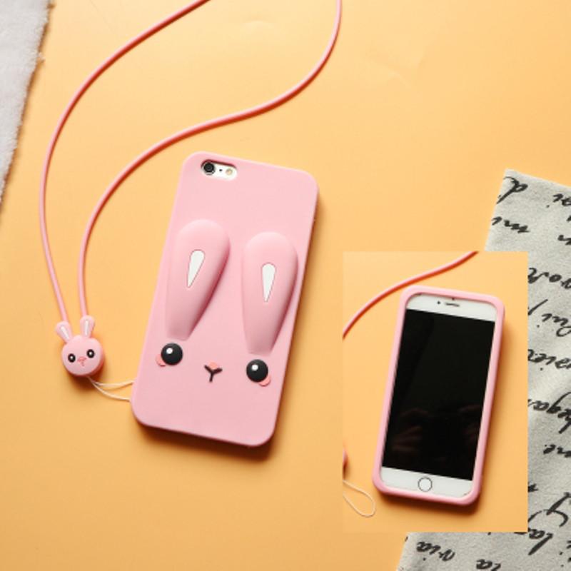 Чехол Funny-Bunny 3D для iPhone 7 / 8 Бампер резиновый розовый