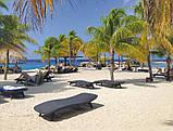 Садово-пляжний шезлонг зі штучного ротанг Pacific графіт (Keter), фото 4