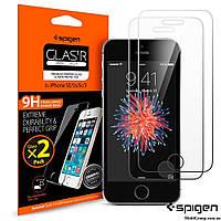 Защитное стекло Spigen для iPhone SE/5S/5 (2шт)