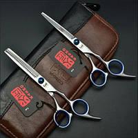 Ножницы парикмахерские для стрижки Kasho (набор) цвет металлик