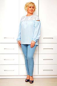 Блуза голубая - Модель 1631-2