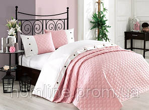 Покрывало хлопок с наволочками Halley Orient 240*260 светло-розовый