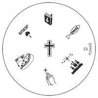 Диск для стемпинга Konad Image Plate S003