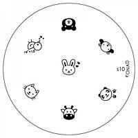Диск для стемпинга Konad Image Plate S010