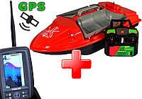 Карповый кораблик для рыбалки - Дельфин 4 Toslon TF500 GPS