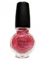 Закрепитель Розовый c блёстками  Konad Special Top Glitter Pink 11 мл.