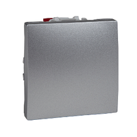 Выключатель кнопочный проходной Алюминий Unica Schneider, MGU3.203.30