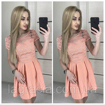 Легкое летнее платье с кружевом, фото 2