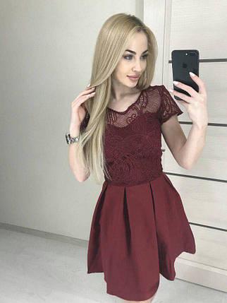 Летнее модное платье с кружевом, фото 2