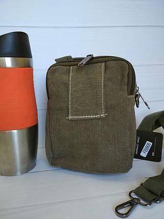 Повседневная сумка из текстиля с плечевым ремнем и эмблемой, фото 2