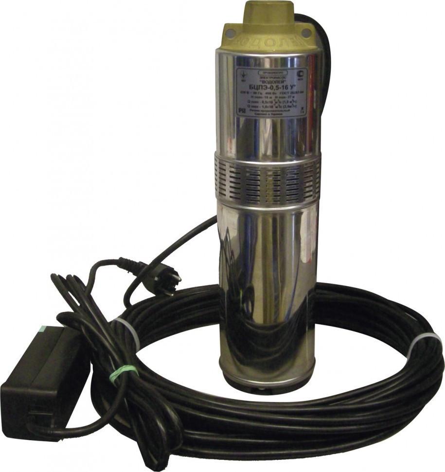 Насос глубинный Водолей 0.5-16-У 400 Вт, 60 л/мин, напор 27 м