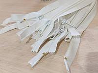 Молния, застежка 8ка - 8 метровая, витая пластиковая разъемная - белая, фото 1