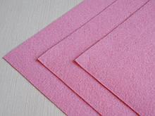 Фетр Турция Розовый средней жесткости 1 мм 20 на 30 см