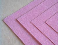 Фетр Светло Розовый Жесткий 1 мм 20 на 30 см