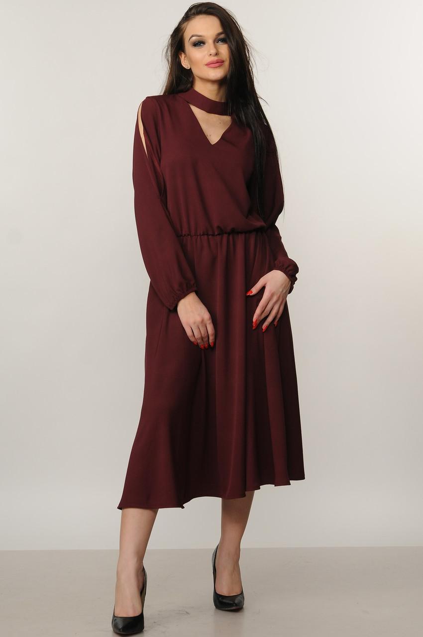 505b3a2235d Купить Удлиненное платье с юбкой-колокол по выгодной цене в Украине ...