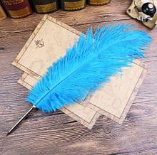 Ручка кулькова довга Страусове перо
