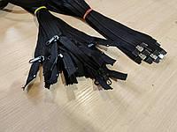 Молния, застежка 8ка - длина 4,5 м, витая пластиковая разъемная - черная, фото 1