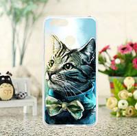 Оригинальный чехол накладка для Huawei honor 7x с печатным рисунком котик