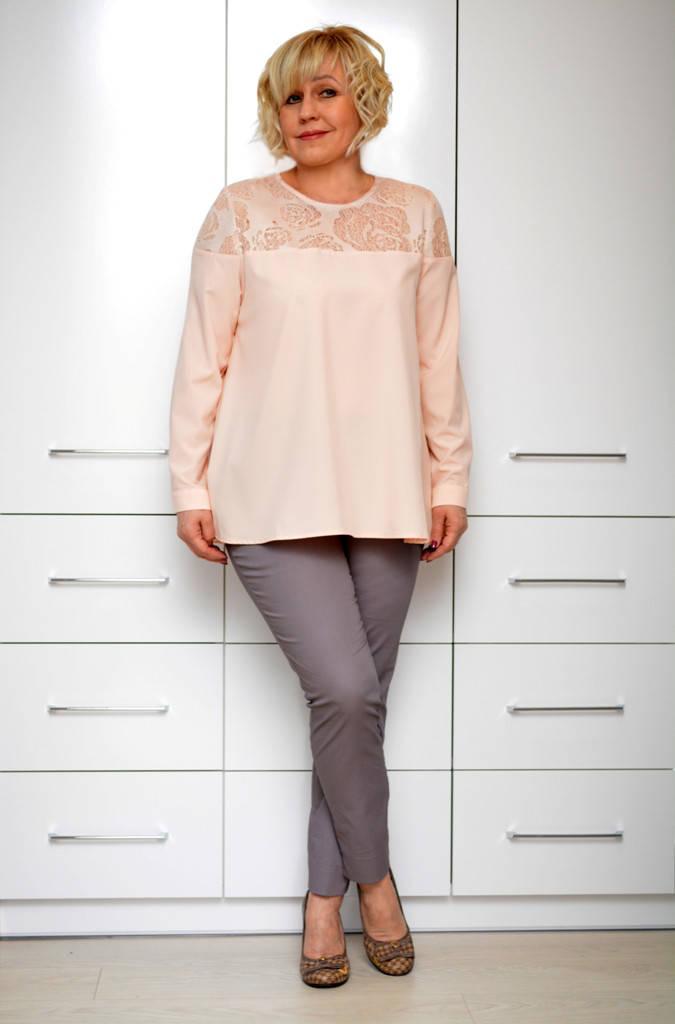 Блуза персик софт - Модель 1634-3