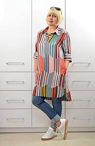 """Блуза-рубашка """"Радуга"""" - Модель 1642-2"""