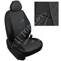 Чехлы на сиденья Volkswagen Crafter (3 места) с 06г. / Mercedes Sprinter c 06-13г. (Ромб Черный   Темно-серый)