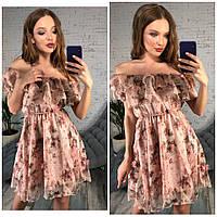 Шифоновое платье с цветочками , фото 1
