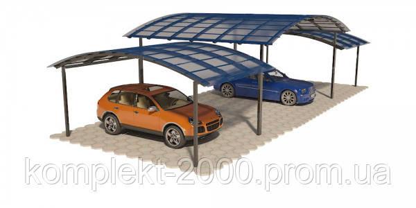 Навес для авто на даче металлический