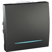 Выключатель перекрестный с подсветкой Графит Unica Schneider, MGU3.205.12N