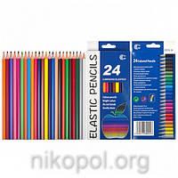 """Набор цветных карандашей Luminoso Elastico """"С"""", 24 цвета"""