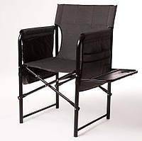 "Стул складной ""Режиссер с полкой"" кемпинговый d25 мм (серый меланж) (кемпінговий стілець складний)"