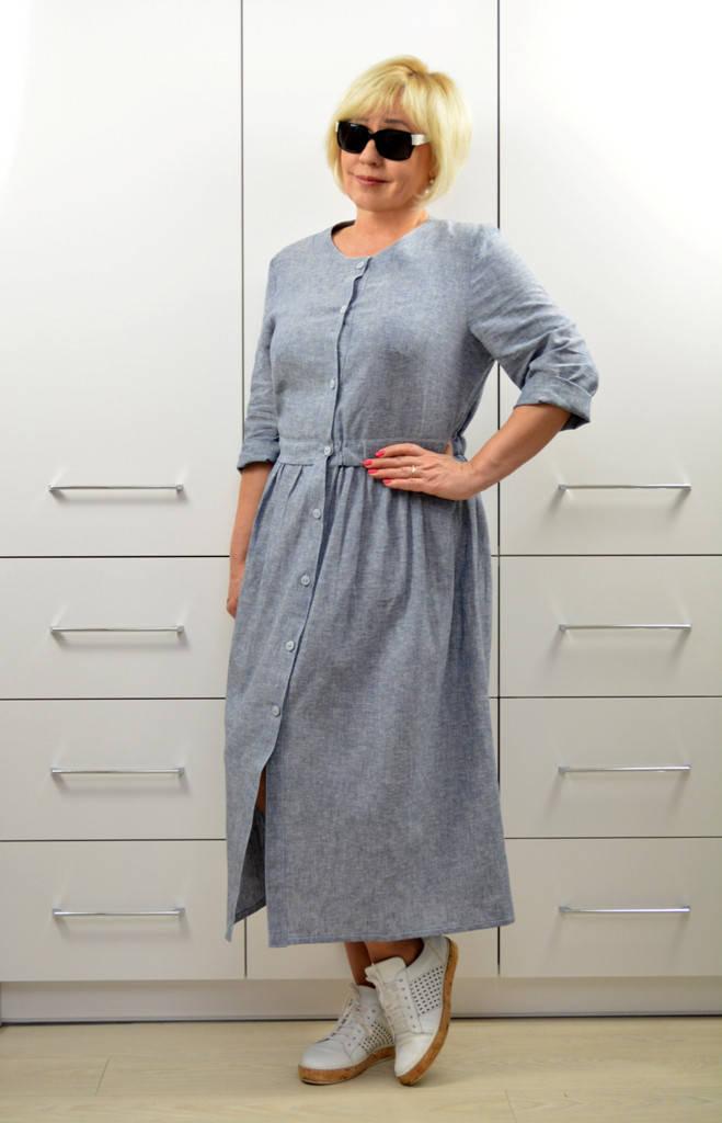 Платье-кардиган лён - Модель 1644-2