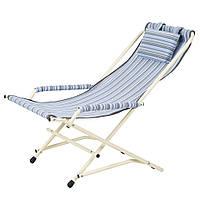 """Кресло """"Качалка"""" d20 мм (текстилен голубая полоска), фото 1"""