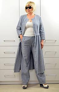 Комплект: Платье-кардиган + Брюки - Модель 1644-2+1657
