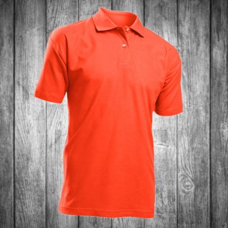 Футболка поло polo мужская темно оранжевая Stedman - 00742