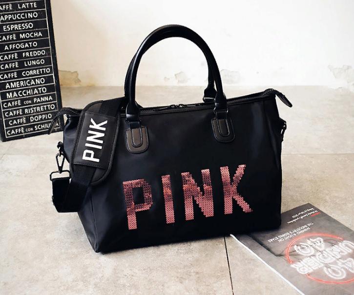 4f4b3e95b478 Сумка Женская Спортивная Средняя, Дорожная Черная Pink Victoria's Secret  1703-1 — в Категории
