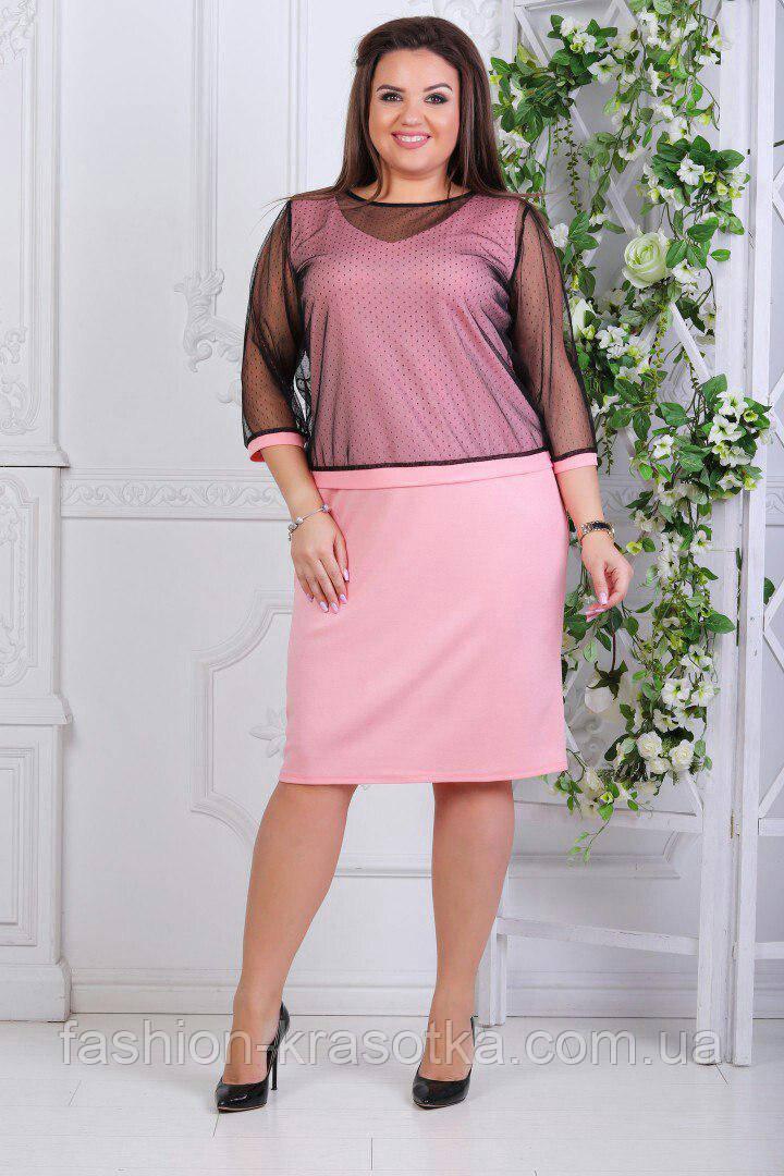 Женское нарядное платье  увеличенных размеров 52-58