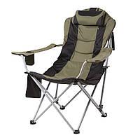 """Кресло складное """"Директор"""" рыбацкое d19 мм для отдыха (зеленый)"""