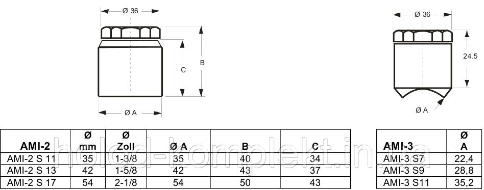 Индикатор наличия влаги AMI-3 S 11 (1-3/8)
