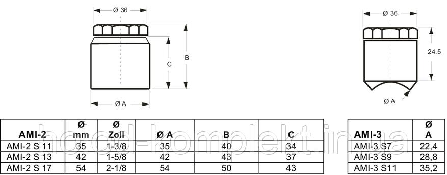 Индикатор наличия влаги AMI-3 S 11 (1-3/8), фото 2