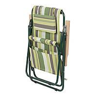 """Кресло-шезлонг """"Ясень"""" d20 мм (текстилен зеленая полоса), фото 1"""