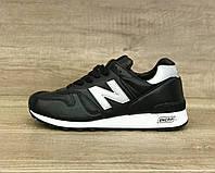 Мужские чёрные кожаные кроссовки New Balance 1300 (Нью Баланц 1300)