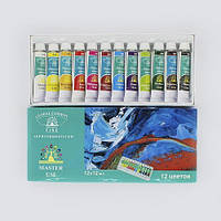 Набор акрилових красок Global набор из 12 шт по 12 мл