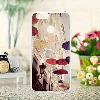 Бампер силиконовый для Huawei honor 7x с рисунком Зонтики