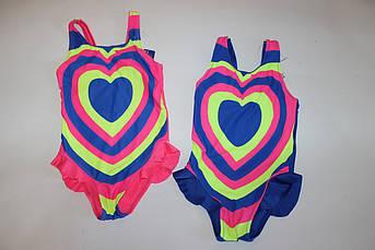 Купальник для девочки Сердце Размер 104 см, 116 см