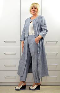 Комплект: Платье-кардиган + Брюки - Модель 1644-2+1658