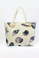 Пляжная сумка Мадрид бежевая