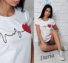 Белая футболка женская